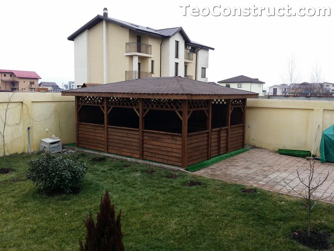 Foisoare din lemn hexagonale Bucuresti24