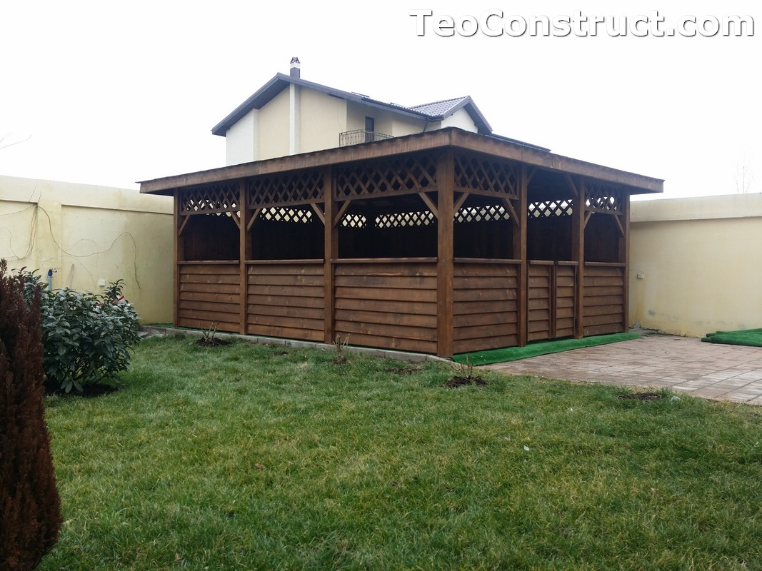 Foisoare din lemn hexagonale Bucuresti4