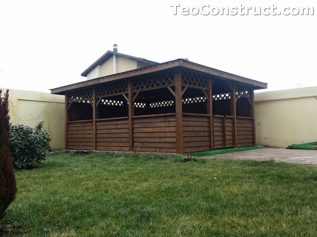Foisoare din lemn hexagonale Bucuresti5