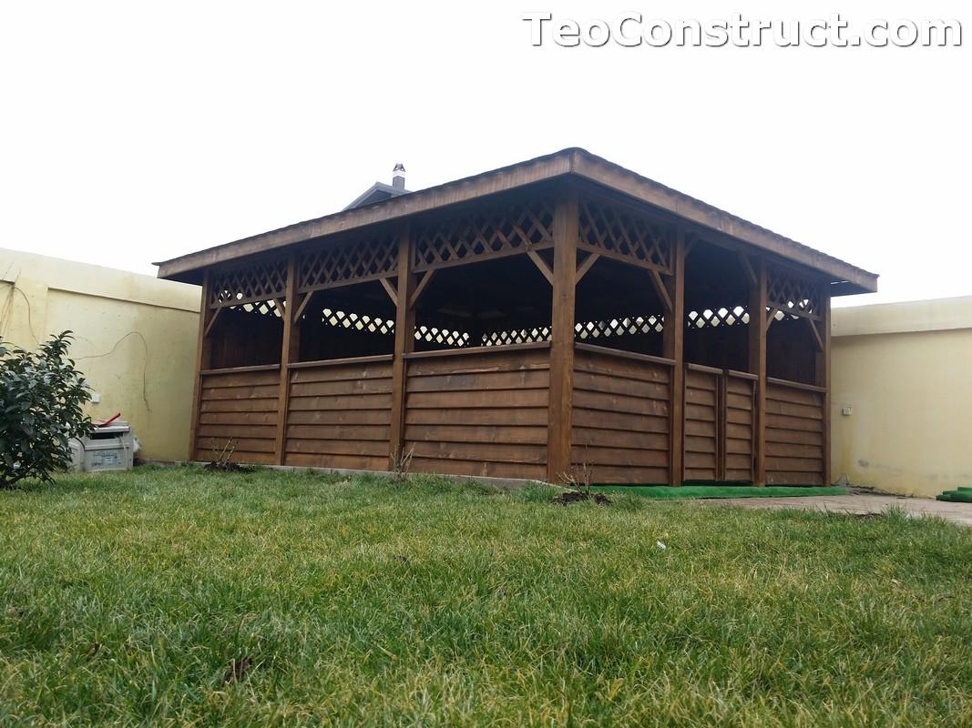 Foisoare din lemn hexagonale Bucuresti6