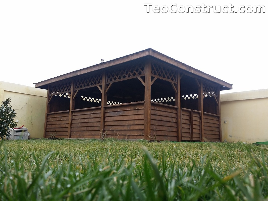 Foisoare din lemn hexagonale Bucuresti7