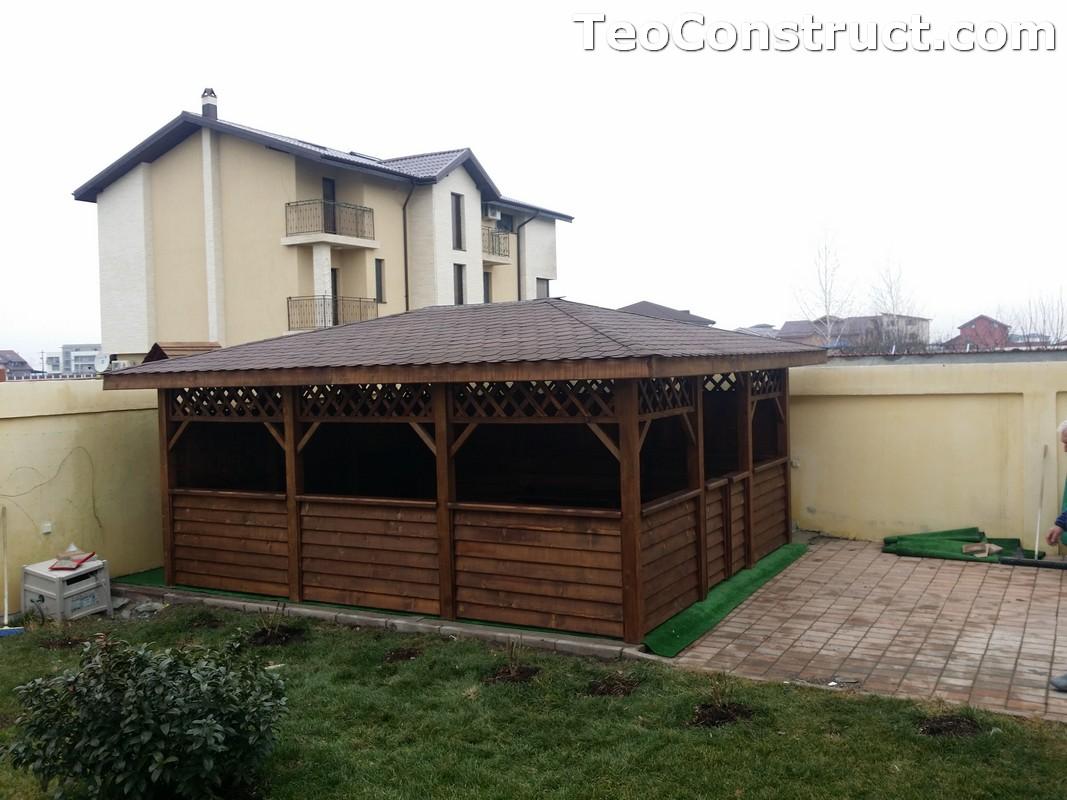 Foisoare din lemn hexagonale Bucuresti8