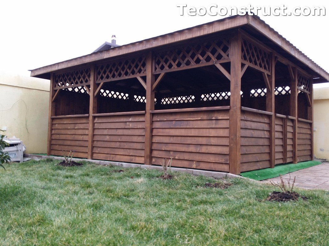 Foisoare din lemn hexagonale Bucuresti9