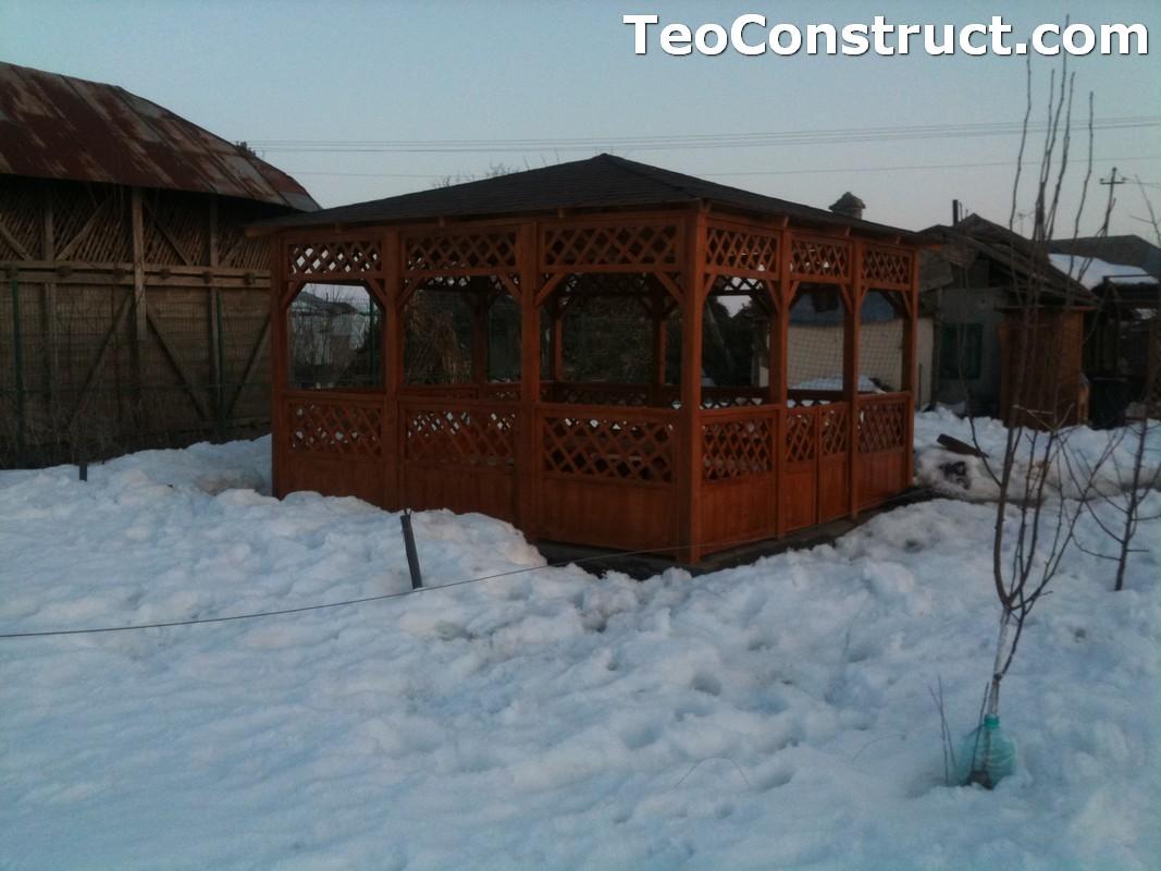 Foisor acoperit cu sindrila bituminoasa din lemn Timisoara5