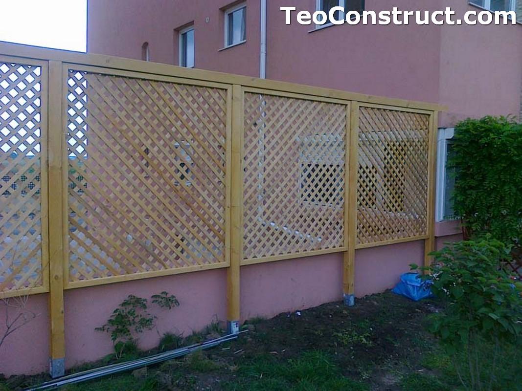 Garduri din lemn cu lamele orizontale Caracal1