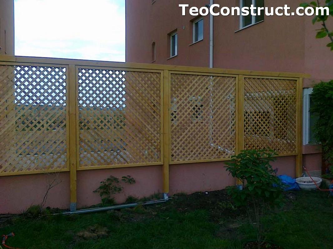 Garduri din lemn cu lamele orizontale Caracal2