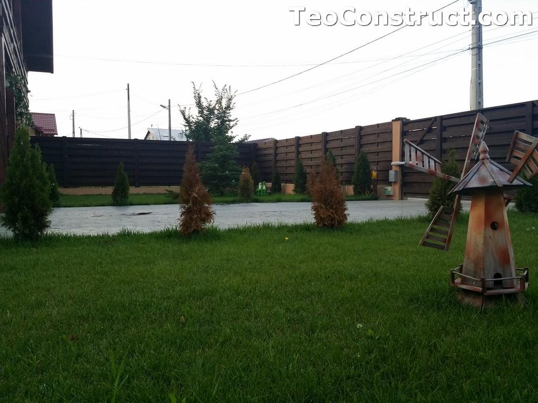 Garduri din lemn cu lamele orizontale1