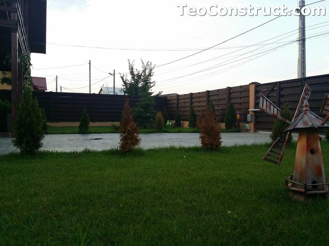 Garduri din lemn cu lamele orizontale2
