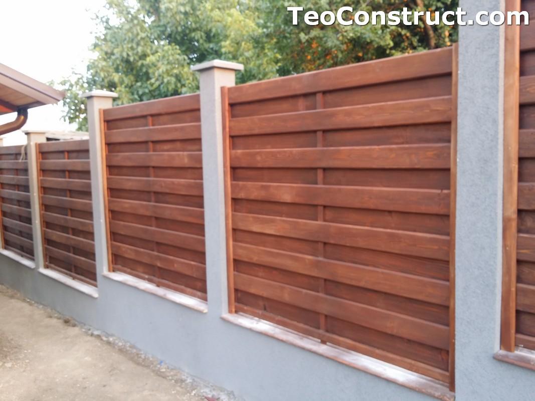 garduri din lemn cu lamele verticale foisoare din lemn