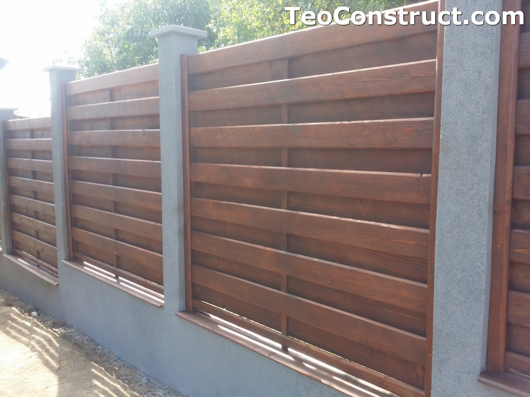 Garduri din lemn cu lamele verticale 11