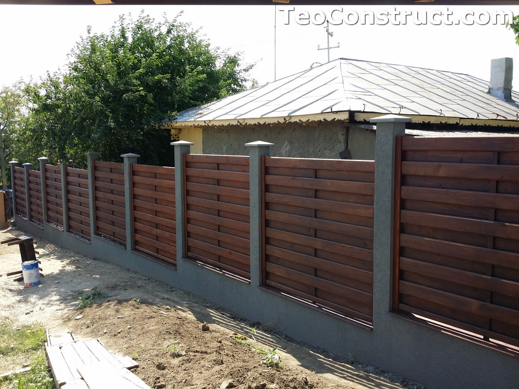 Garduri din lemn cu lamele verticale 12
