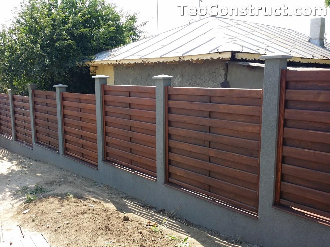 Garduri din lemn cu lamele verticale 13