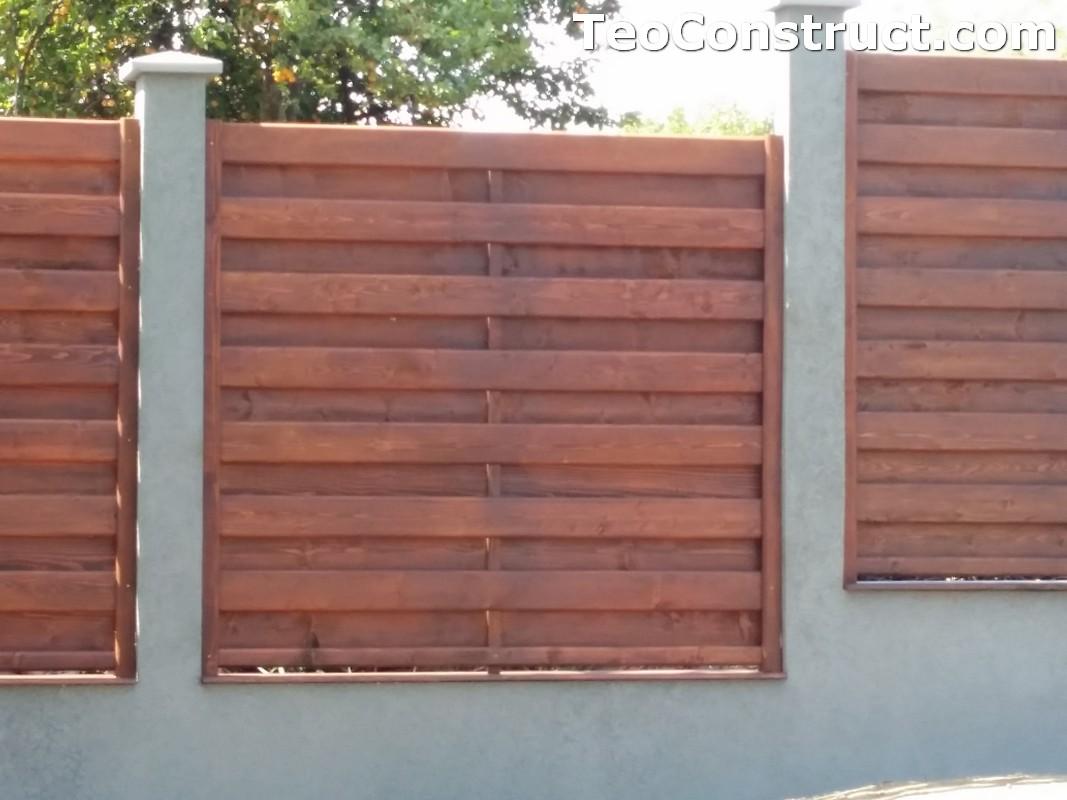 Garduri din lemn cu lamele verticale 15