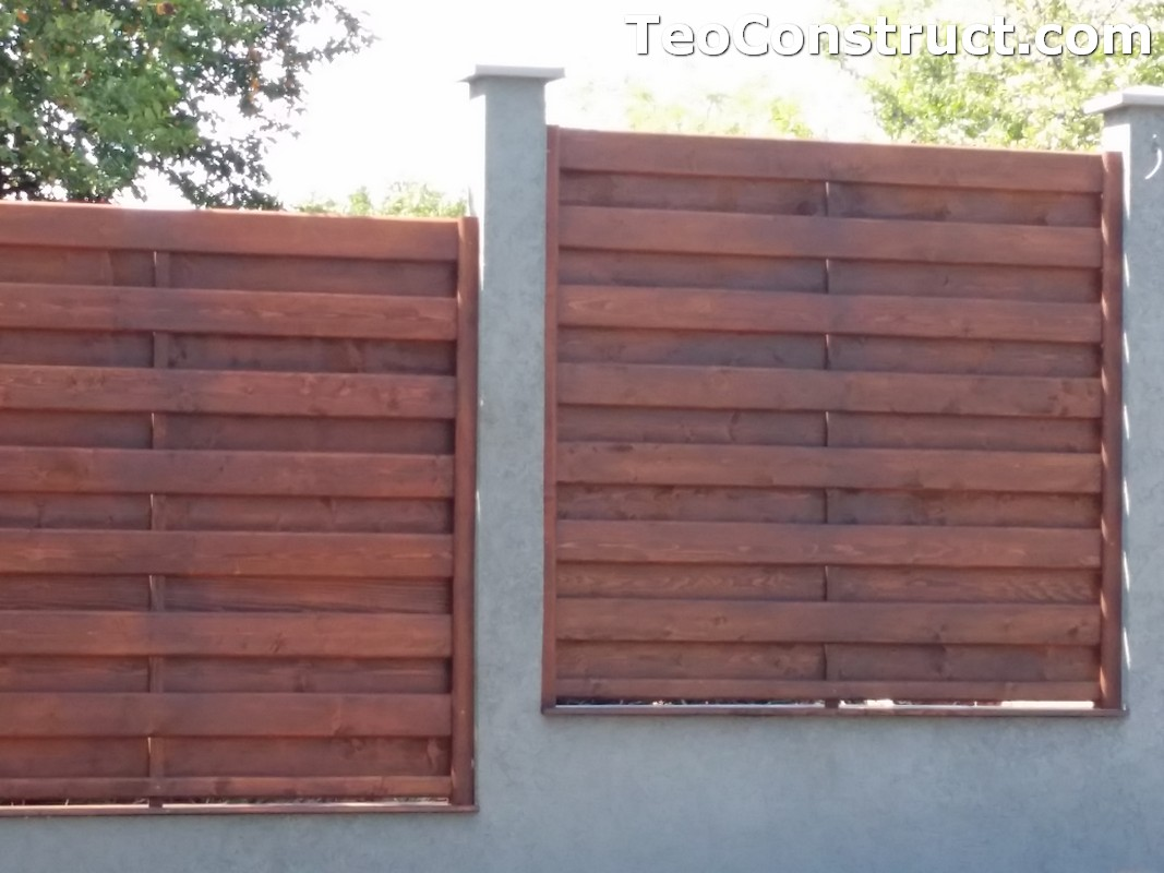 Garduri din lemn cu lamele verticale 16