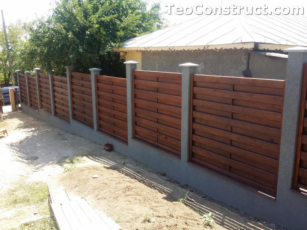Garduri din lemn cu lamele verticale 18