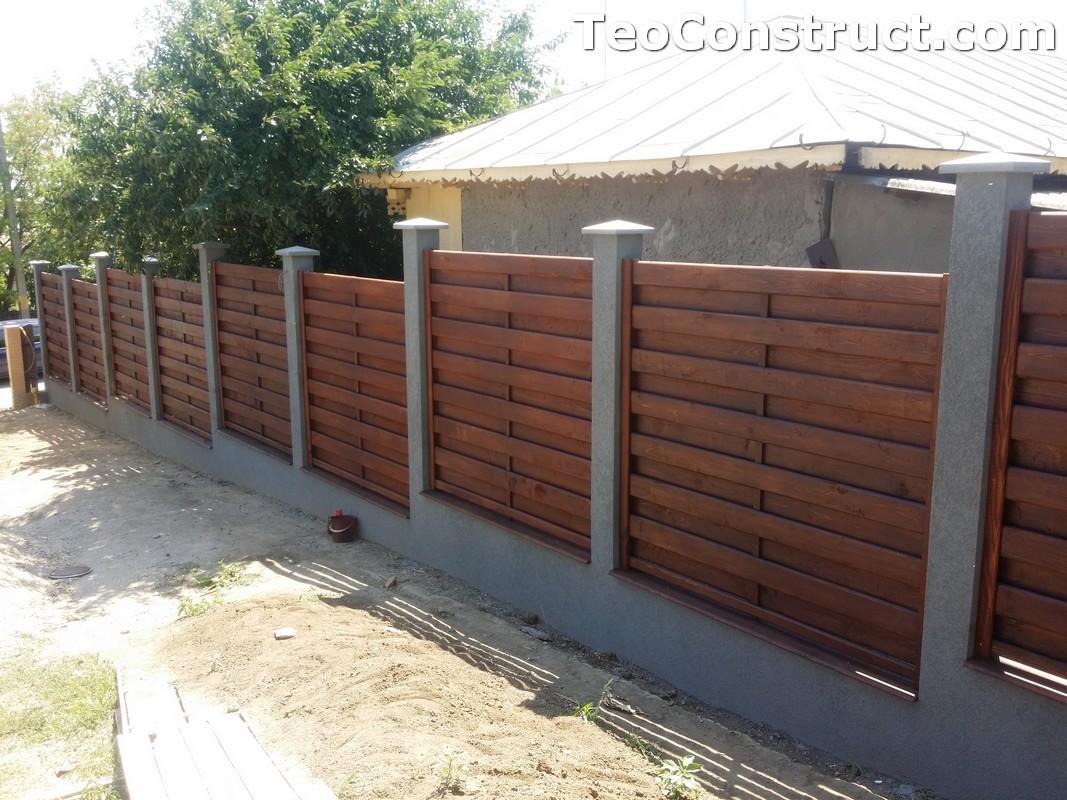 Garduri din lemn cu lamele verticale 19
