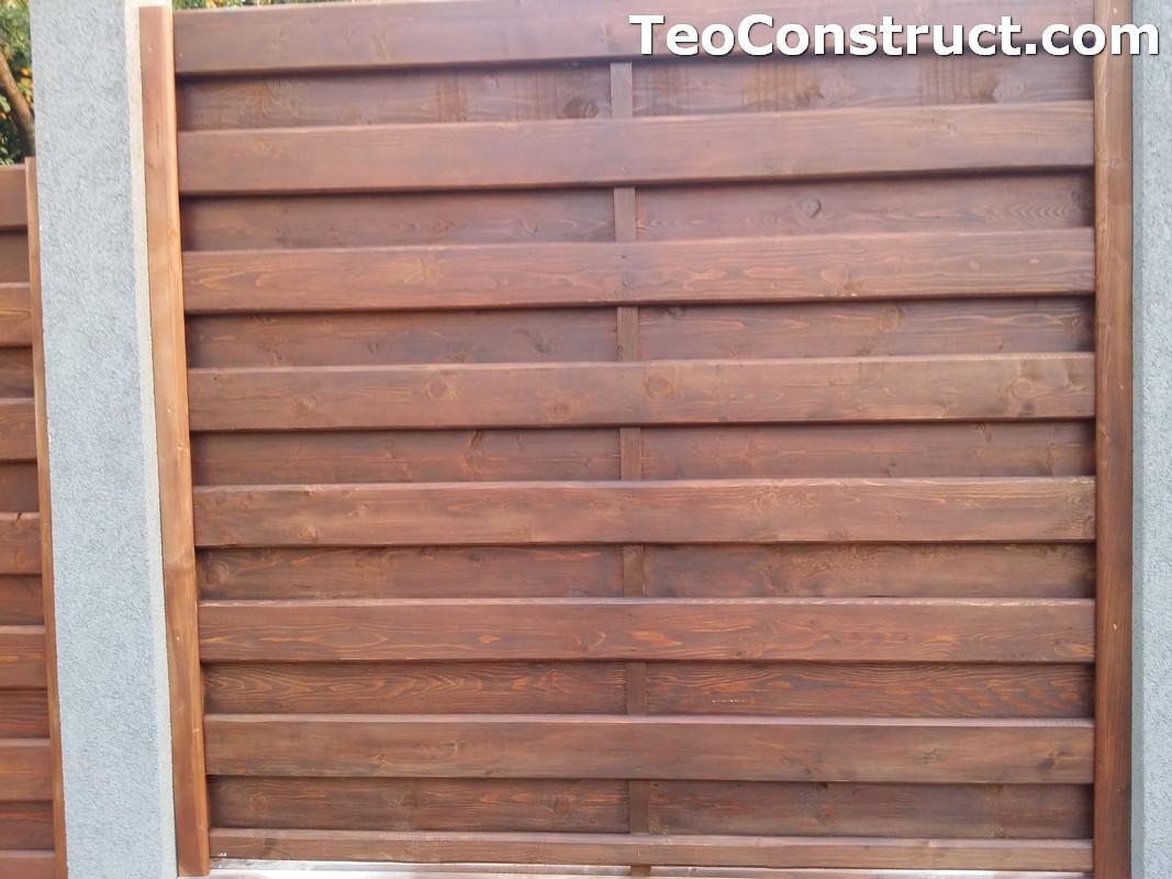 Garduri din lemn cu lamele verticale 2