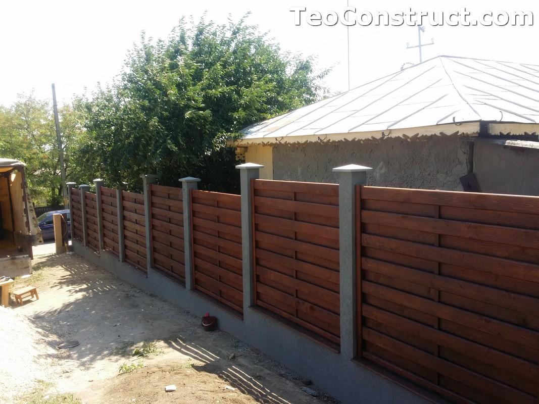 Garduri din lemn cu lamele verticale 21