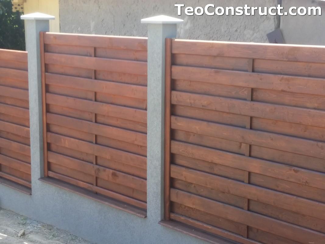 Garduri din lemn cu lamele verticale 22