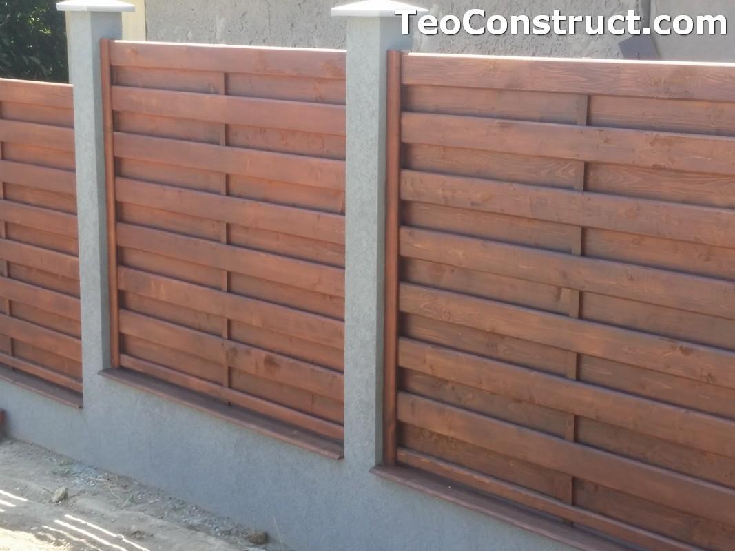 Garduri din lemn cu lamele verticale 23