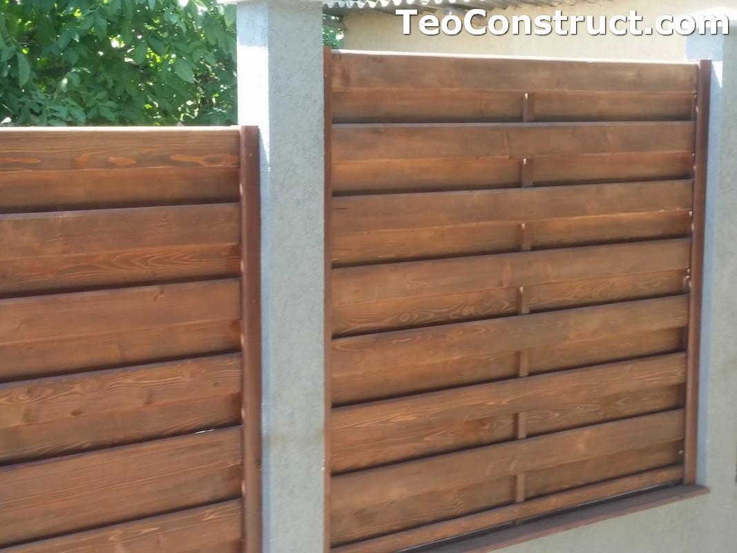 Garduri din lemn cu lamele verticale 24