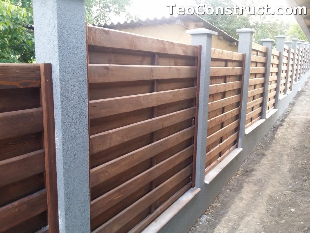 Garduri din lemn cu lamele verticale 3