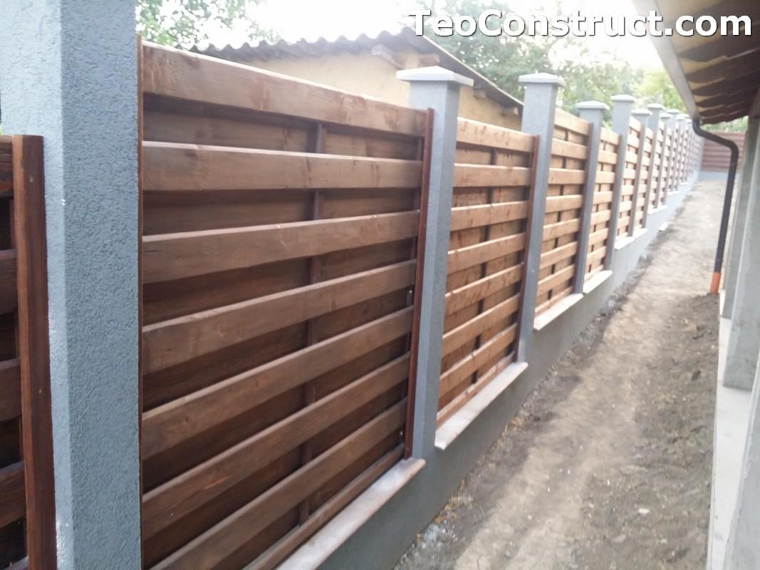 Garduri din lemn cu lamele verticale 4