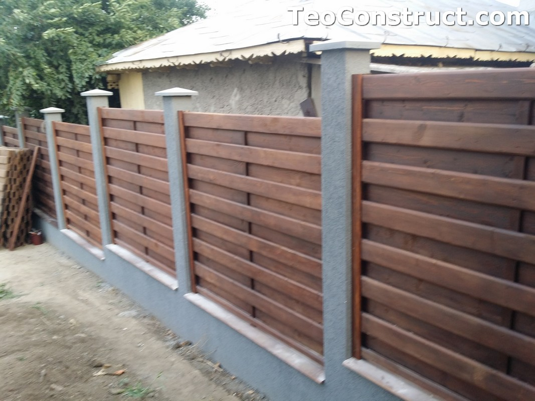 Garduri din lemn cu lamele verticale 5