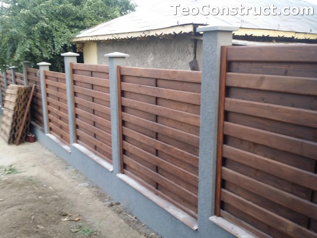 Garduri din lemn cu lamele verticale 6