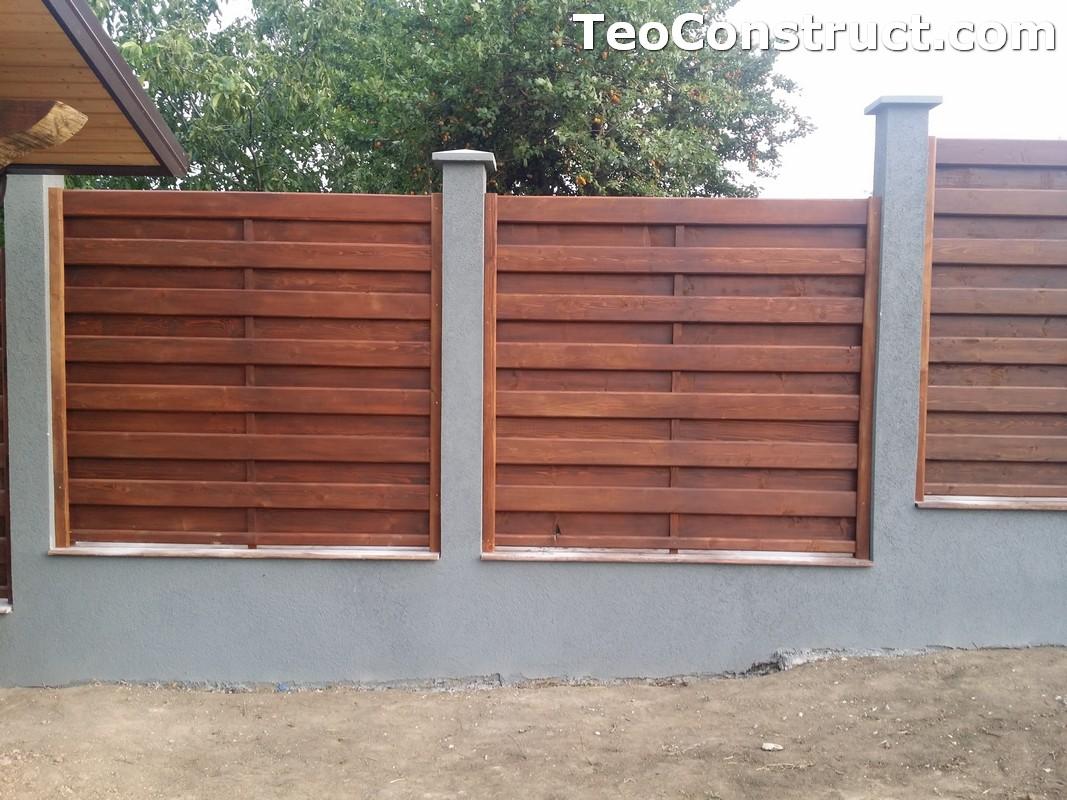 Garduri din lemn cu lamele verticale 7