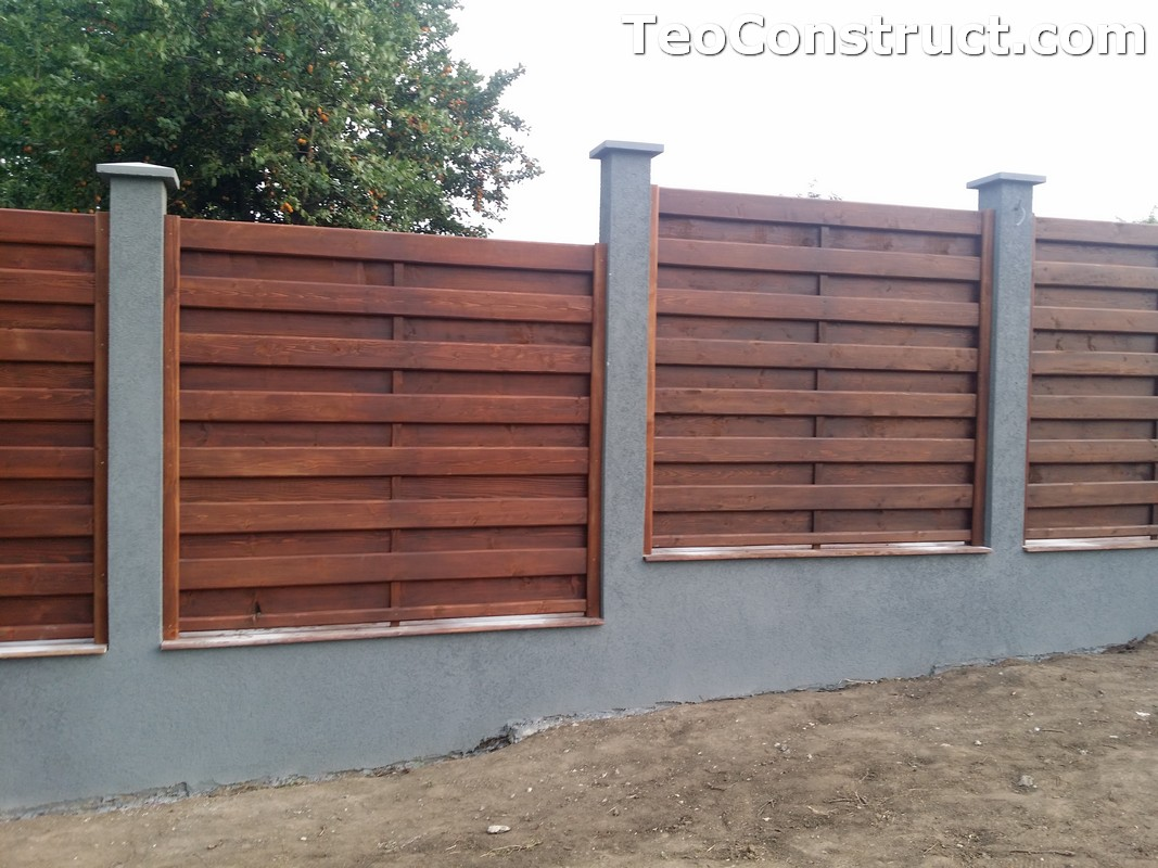 Garduri din lemn cu lamele verticale 8