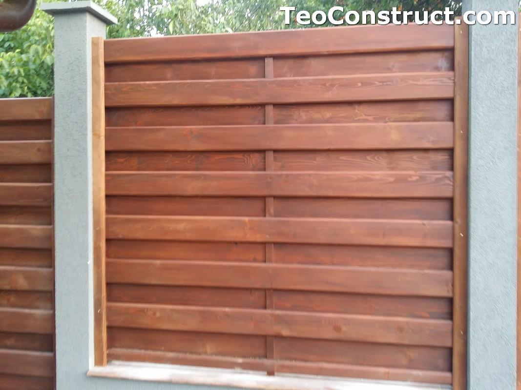 Garduri din lemn cu lamele verticale 9