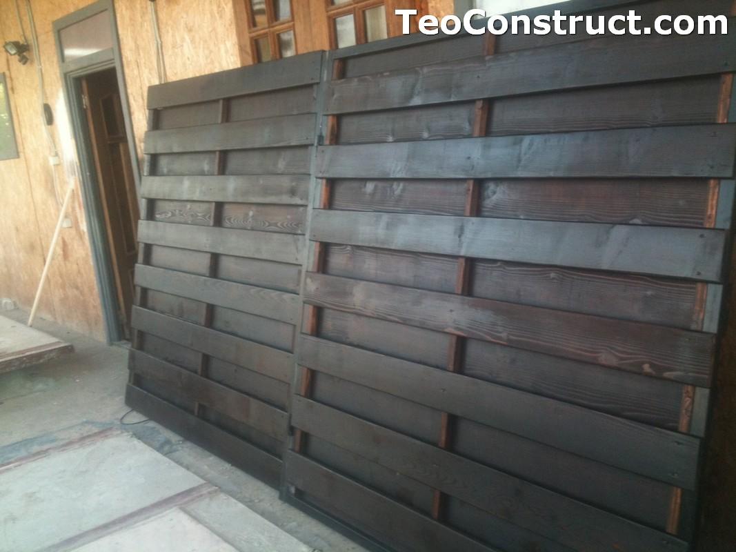 Garduri din lemn cu lamele verticale Alexandria 1
