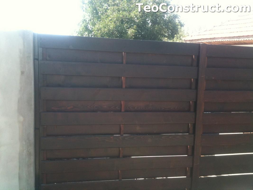 Garduri din lemn cu lamele verticale Alexandria 10