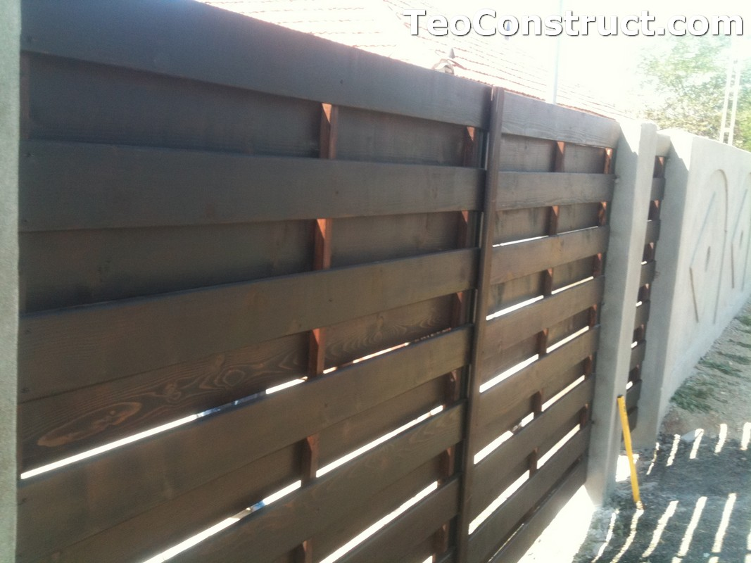 Garduri din lemn cu lamele verticale Alexandria 11