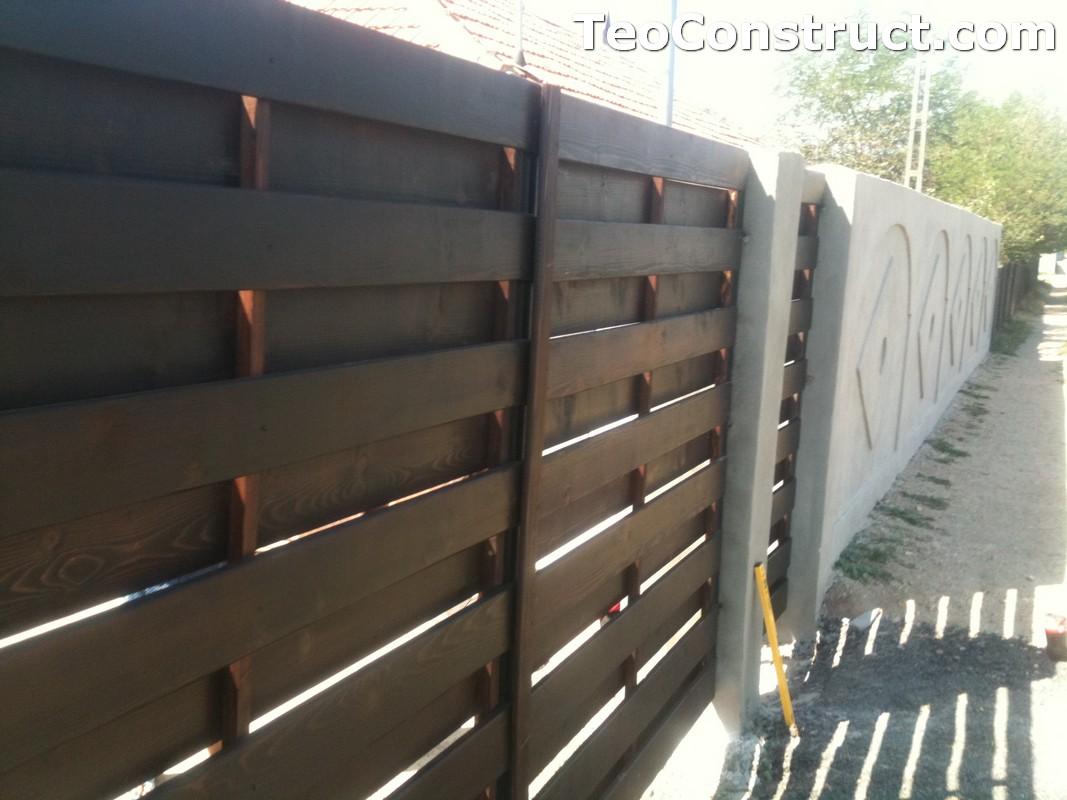 Garduri din lemn cu lamele verticale Alexandria 12