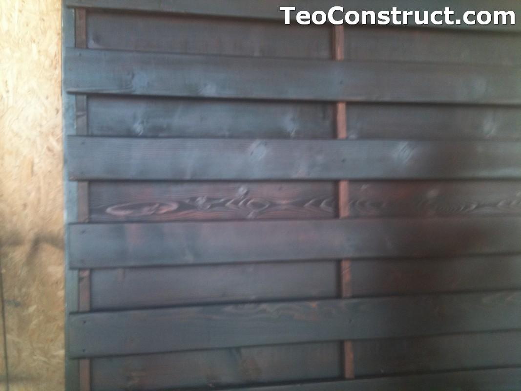 Garduri din lemn cu lamele verticale Alexandria 2