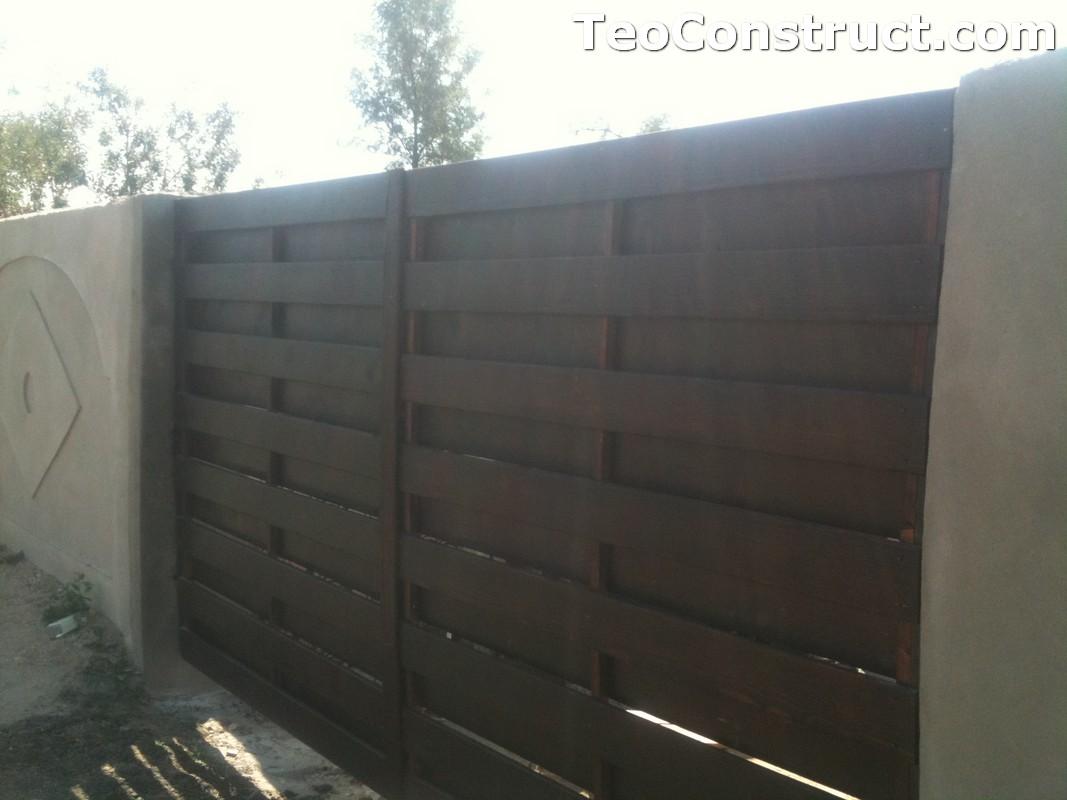 Garduri din lemn cu lamele verticale Alexandria 3