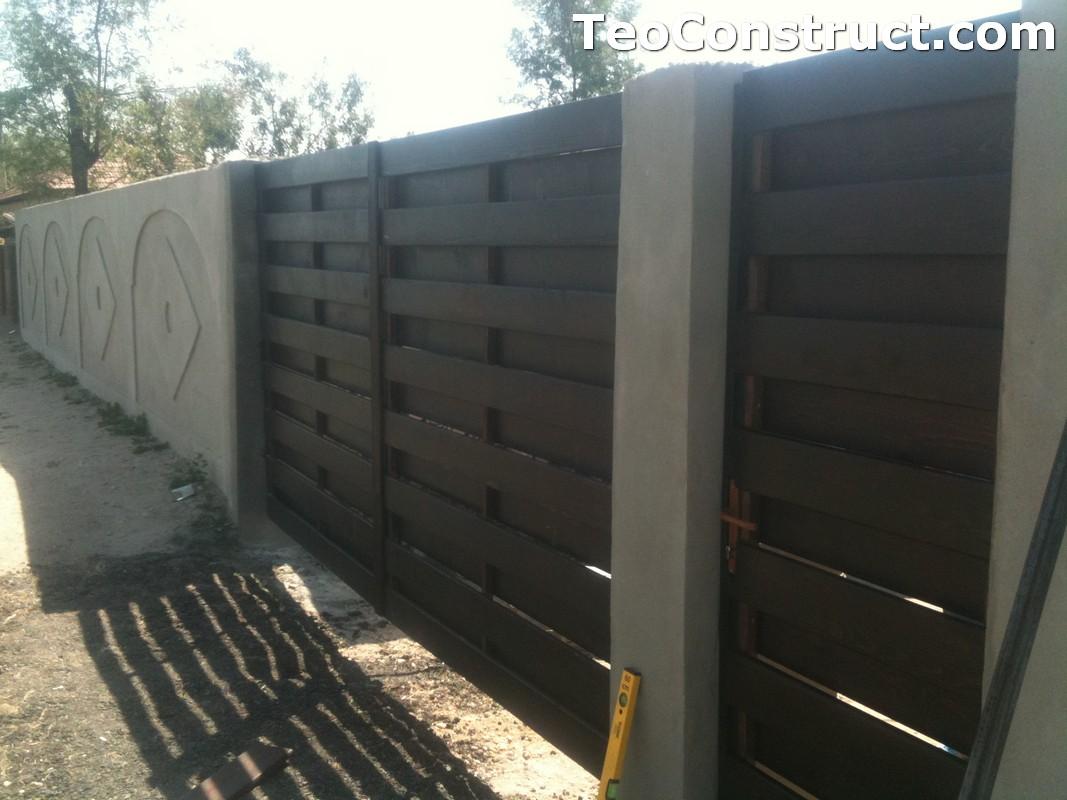 Garduri din lemn cu lamele verticale Alexandria 4