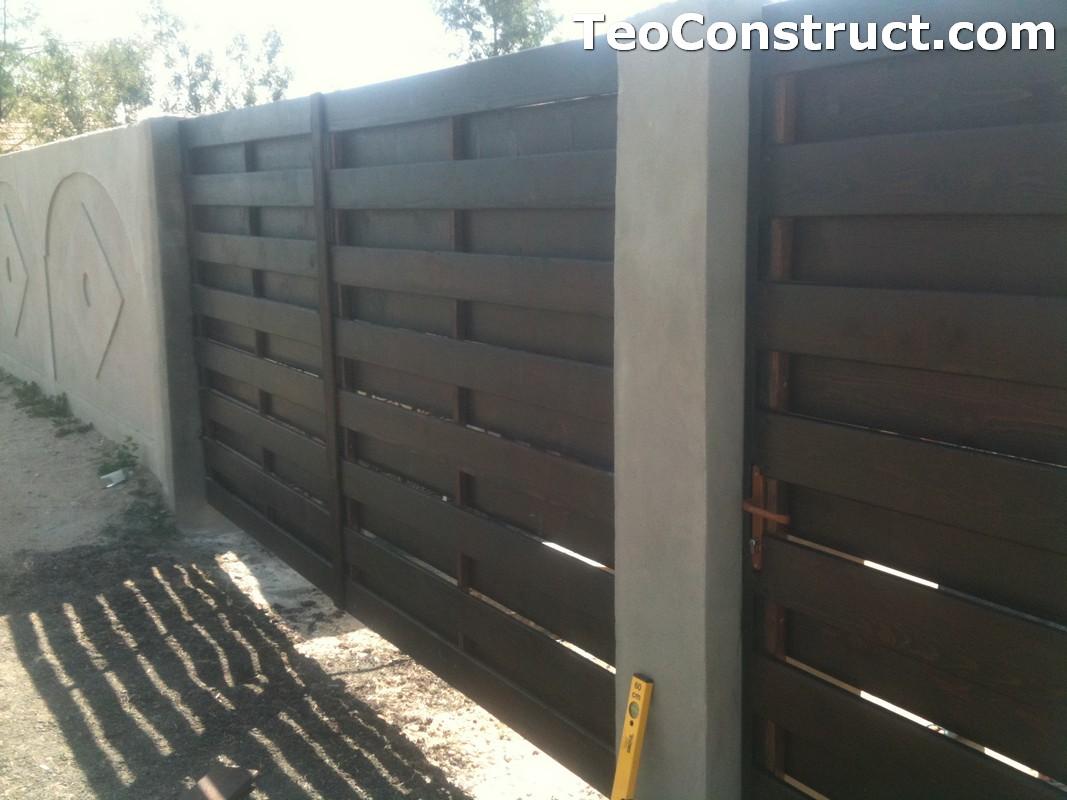 Garduri din lemn cu lamele verticale Alexandria 5
