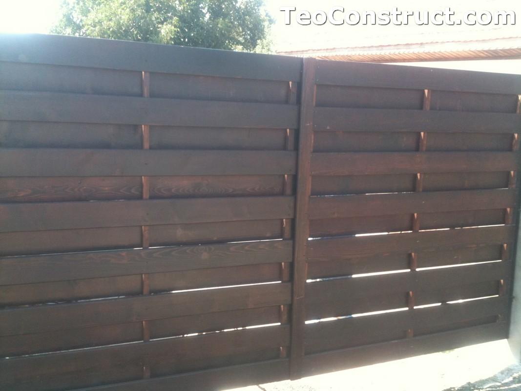 Garduri din lemn cu lamele verticale Alexandria 6