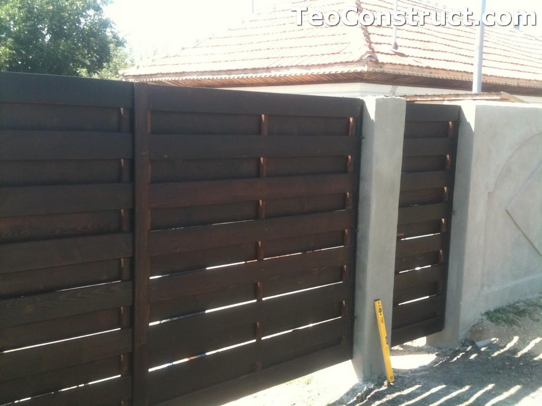 Garduri din lemn cu lamele verticale Alexandria 7
