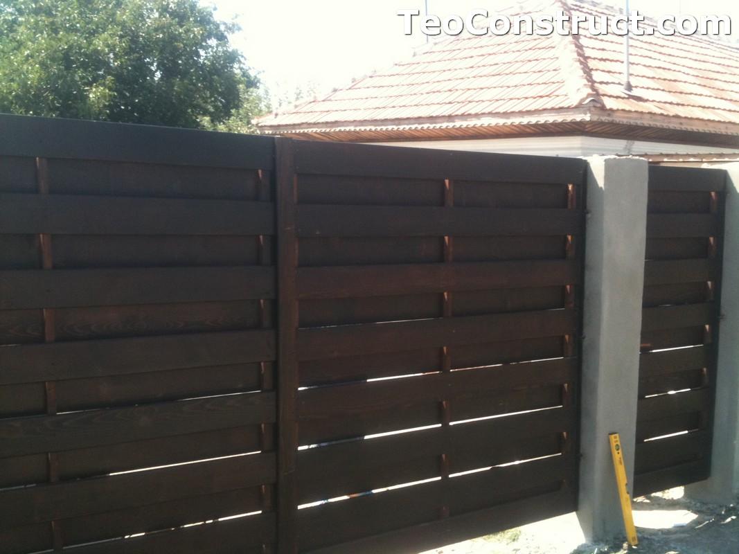 Garduri din lemn cu lamele verticale Alexandria 8