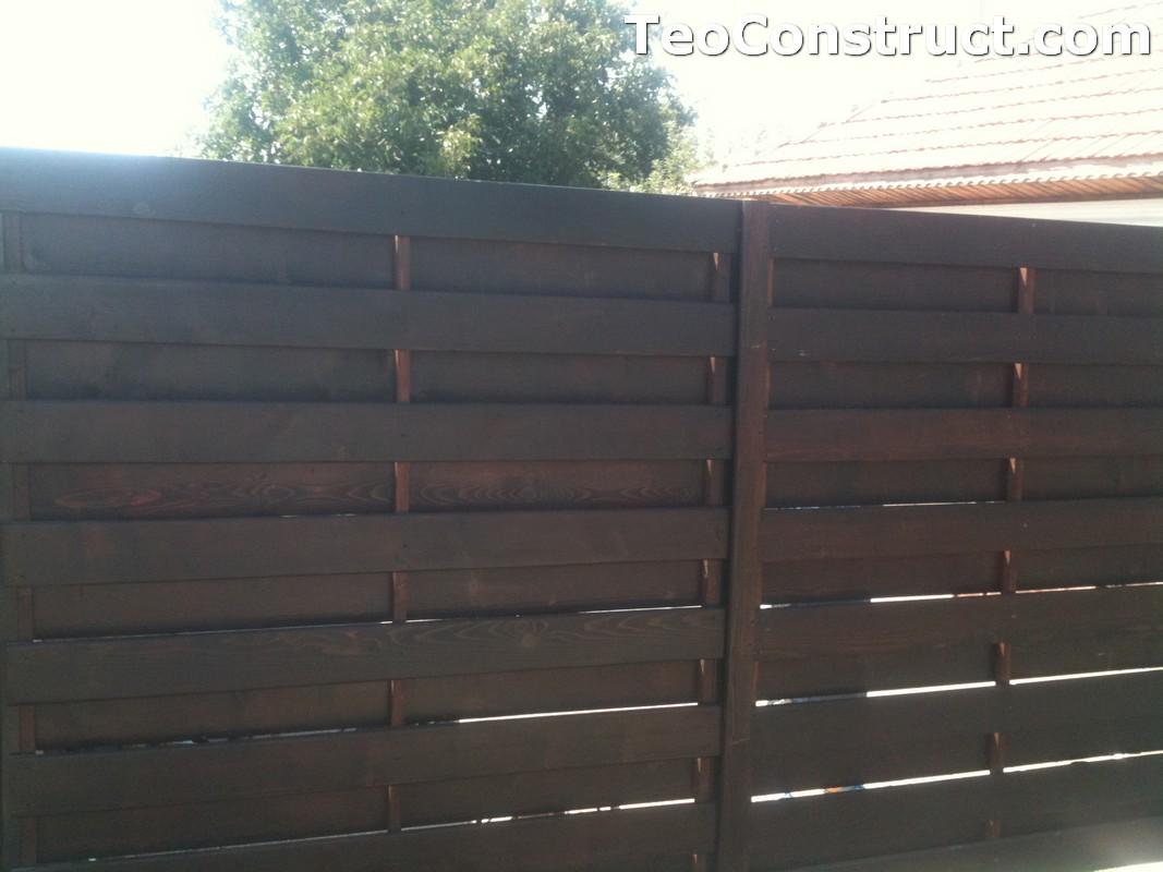 Garduri din lemn cu lamele verticale Alexandria 9