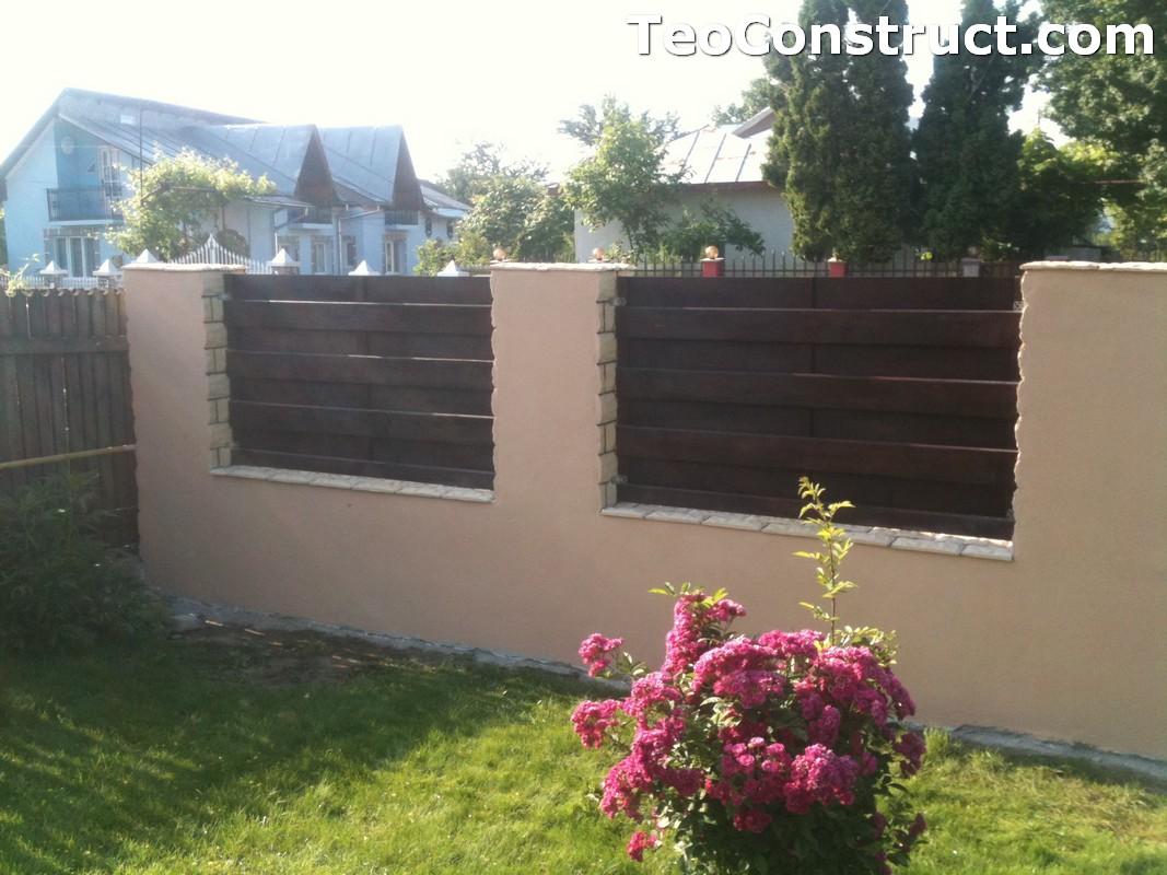 Garduri din lemn modele Buzau 1
