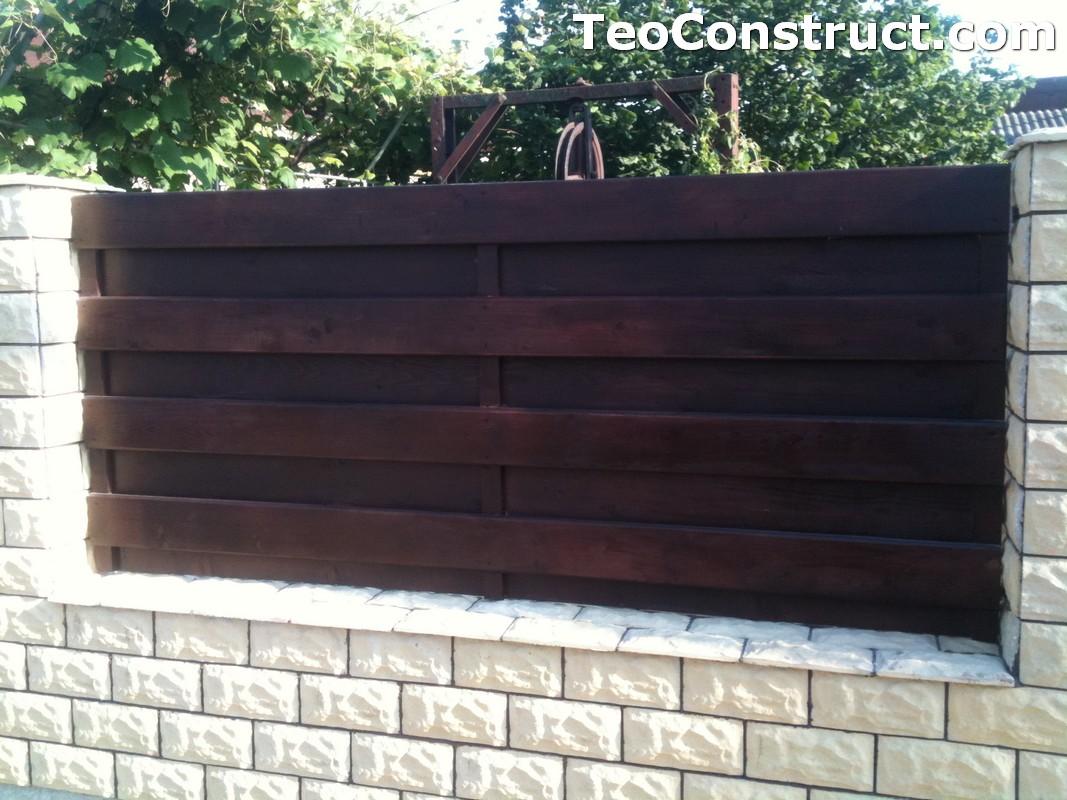 Garduri din lemn modele Buzau 11