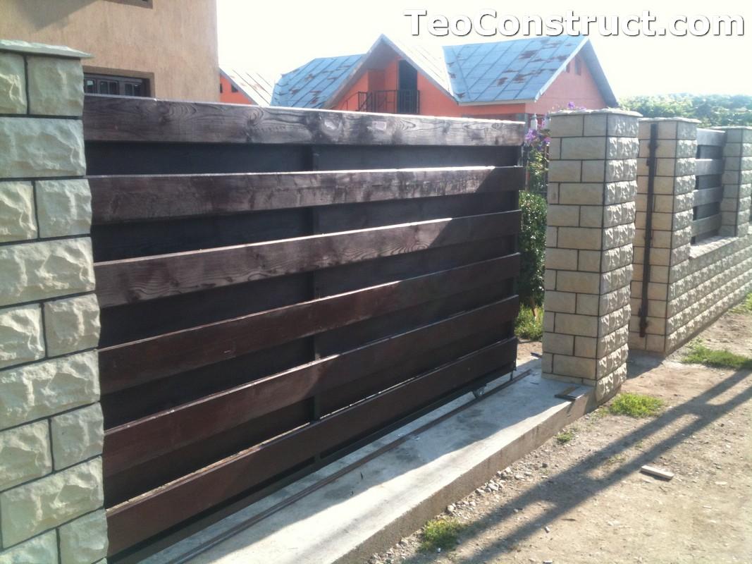 Garduri din lemn modele Buzau 12