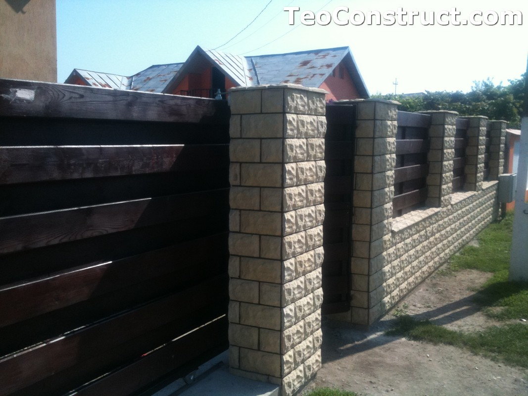 Garduri din lemn modele Buzau 16