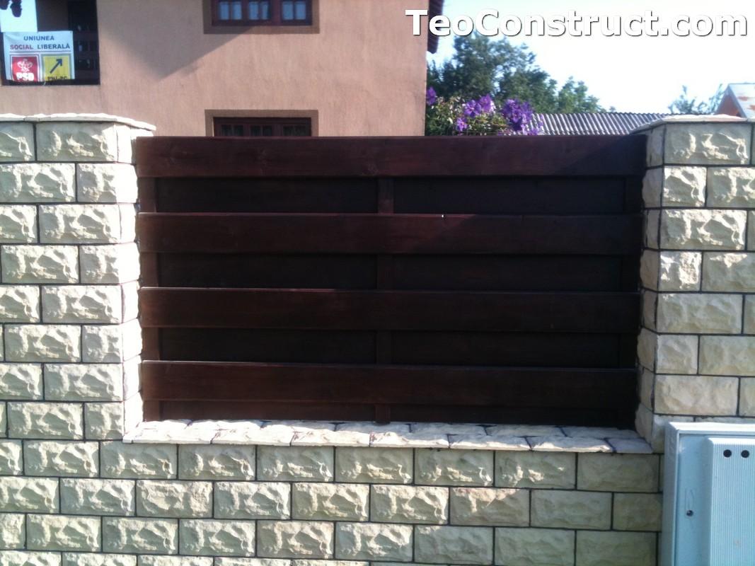 Garduri din lemn modele Buzau 6