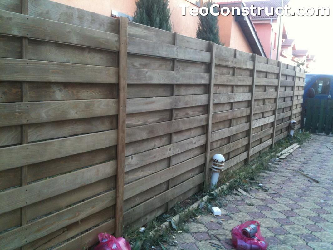 Garduri din lemn modele Campu lung 1